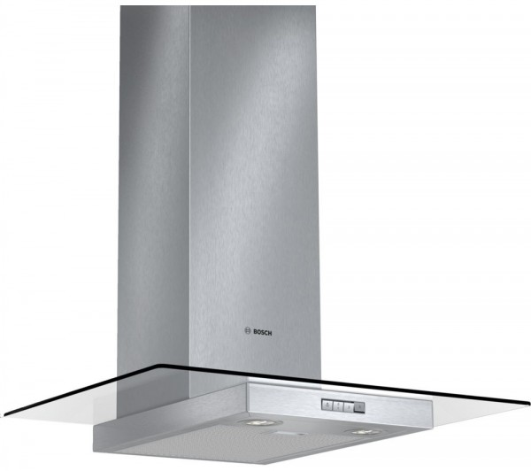 Bosch DWA074W50B Glass Chimney hood in Stainless Steel