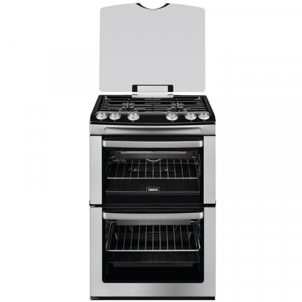 Zanussi ZCG669GX 60cm Double Gas Cooker in Stainless Steel