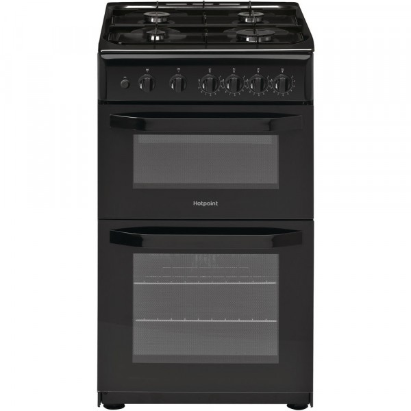 Hotpoint HD5G00KCB 50cm Twin Cavity cooker in Black