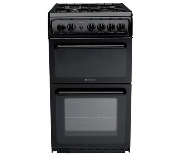 Hotpoint HAG51K 50cm Twin Cavity cooker in Black
