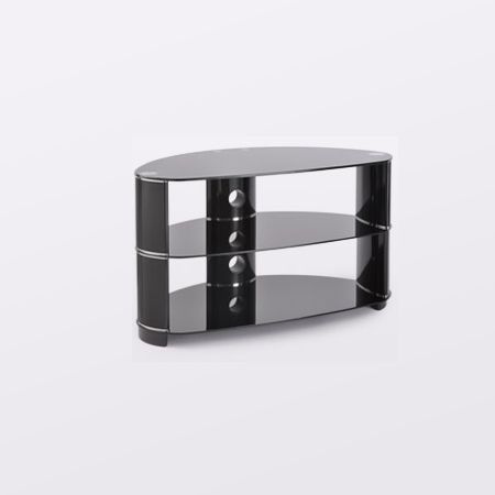 Ttap AVSL608850 850mm Black glass stand