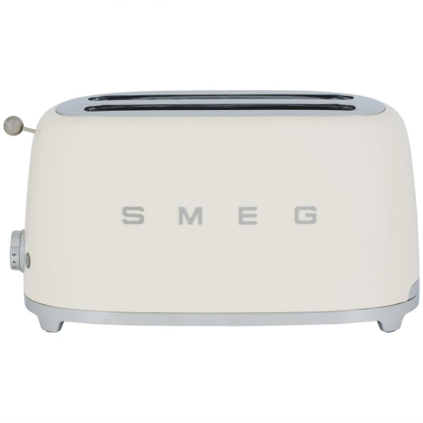 Smeg TSF02CRUK 4 slice retro style toaster in cream