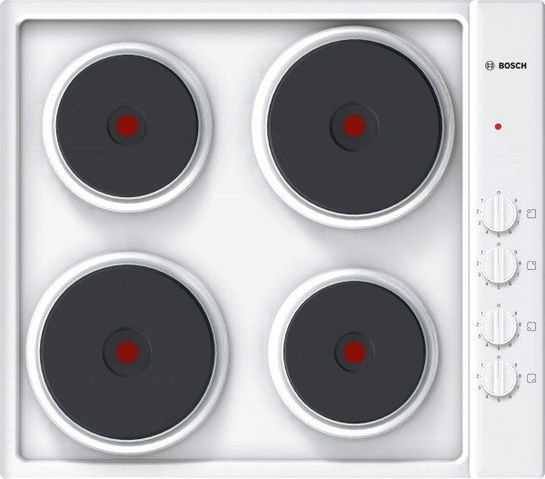 Bosch PEE682CA1 Solid Plate Electric Hob in White