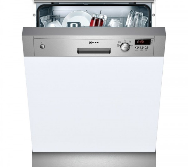 Neff S41E50N1GB Semi-Integrated Dishwasher in Stainless Steel