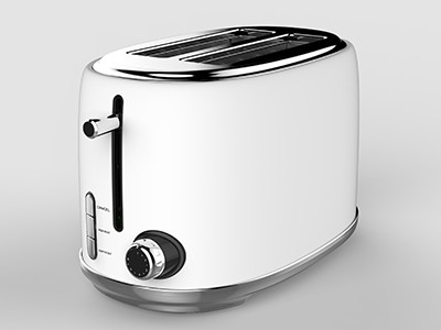 Linsar KY865WHITE 2 slice toaster in White