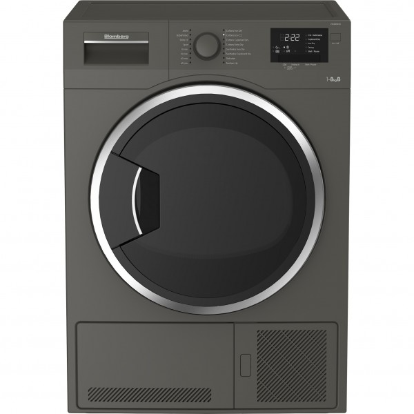 Blomberg LTK28031G 8kg Condenser Dryer in Graphite