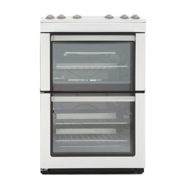 Zanussi ZCG669GW 60cm Double Gas Cooker in White