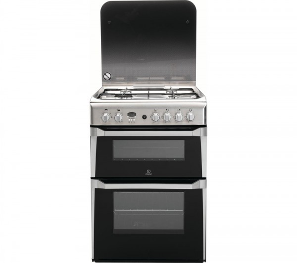 Indesit ID60G2X Stainless Steel 60cm Double Gas Cooker