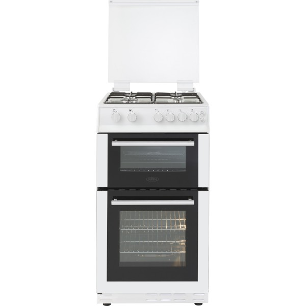 Belling FS50GTCL 50cm Twin Cavity Gas cooker in White
