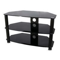 Vivanco 26060 Black Glass Stand