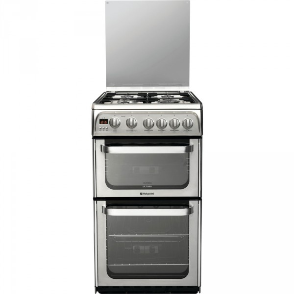 Hotpoint HUG52X Stainless steel 50cm double Gas cooker