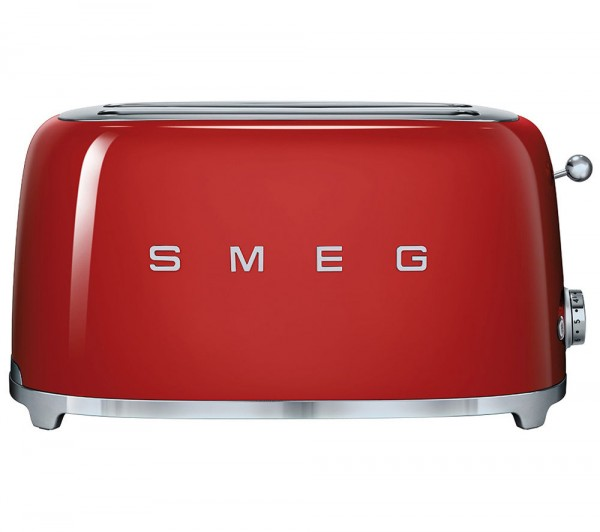 Smeg TSF02RDUK 4 slice retro style toaster in red