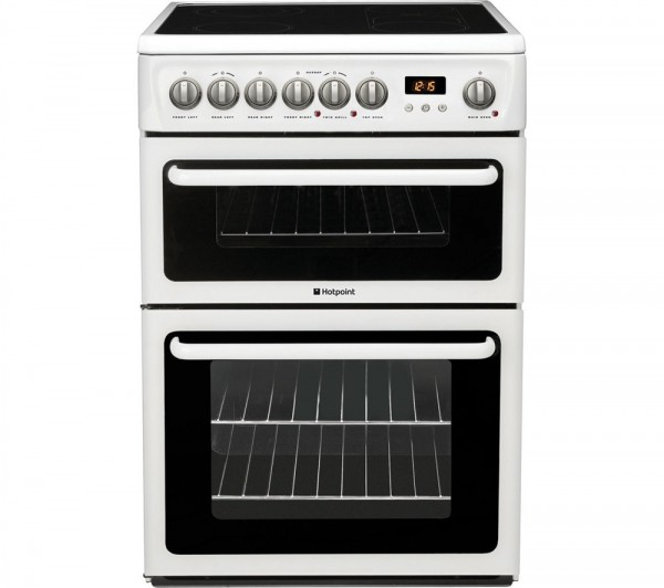 Hotpoint HAE60PS 60cm Double electric cooker in White