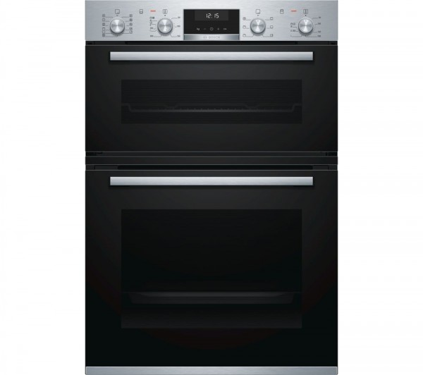 Bosch MBA5575S0B Built-in brushed steel double oven
