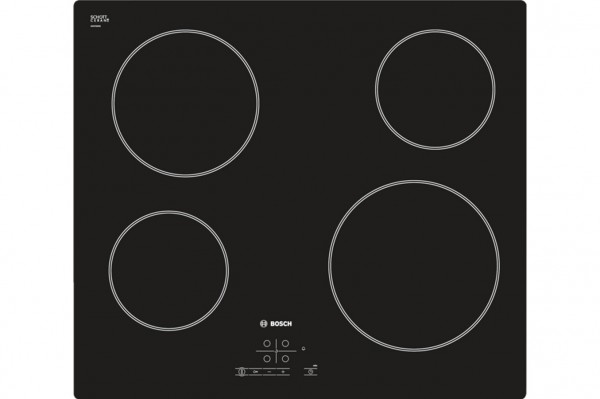 Bosch PKE611B17E Ceramic Hob in Black Glass