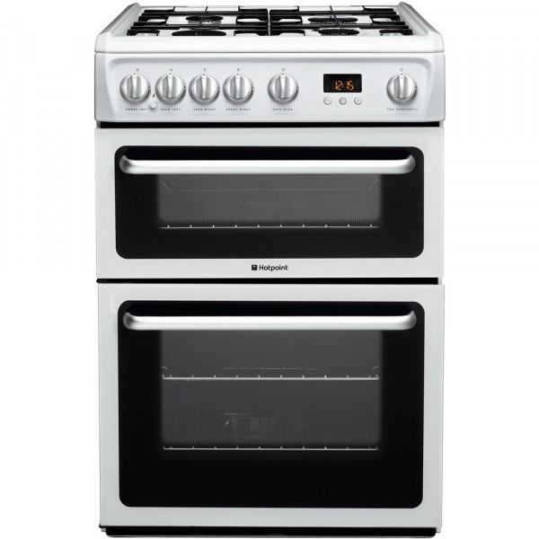 Hotpoint HARG60P Newstyle white gas cooker