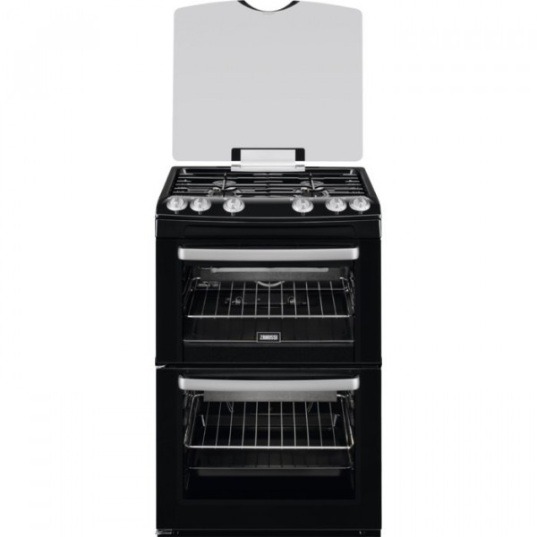 Zanussi ZCG669GN 60cm Double Gas Cooker in Black