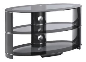 Ttap AVSL6071100 Contour 1100mm Black glass stand