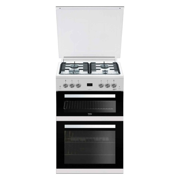 Beko EDG6L33W 60cm Gas Cooker with Lid