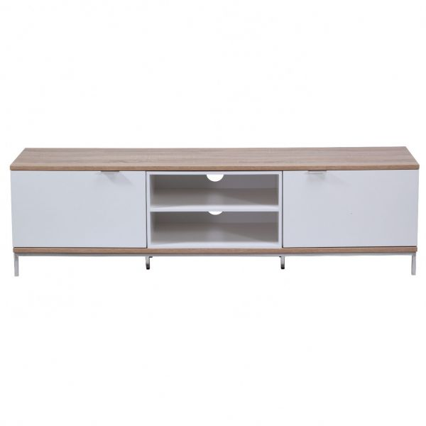 Alphason Chaplin 1600mm White and Light oak stand