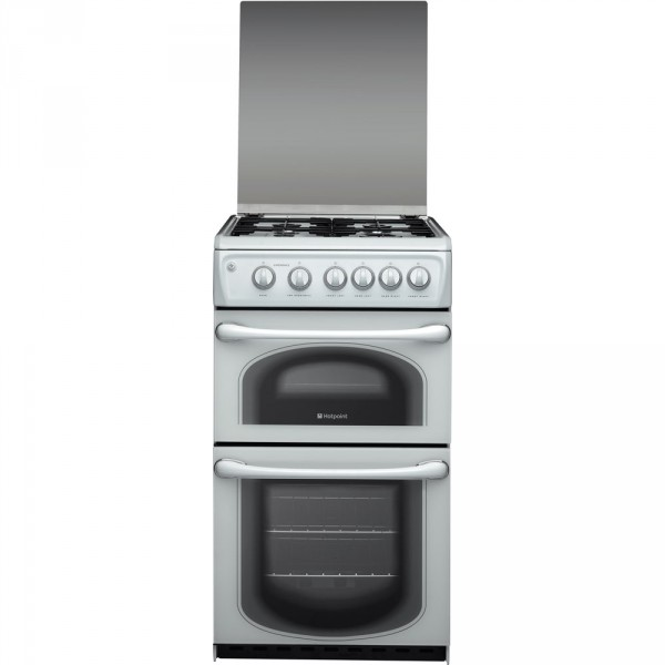 Hotpoint 50HGP 50cm gas double oven in white
