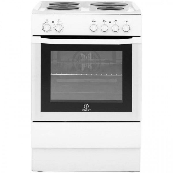 Indesit I6EVAW 60cm White Single oven Cooker