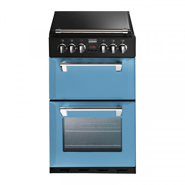 Stoves ST 550DFW 55cm Dual Fuel cooker in Days Break blue