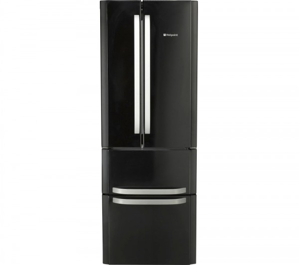 Hotpoint FFU4DK1 Frost free Fridge freezer in Black