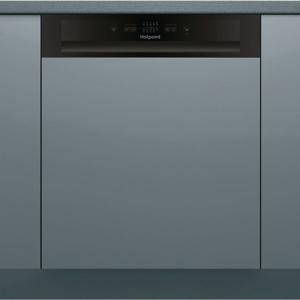 Hotpoint HBC2B19UKN Black Semi-Integrated Fullsize dishwasher