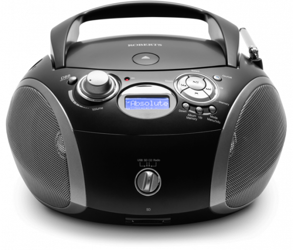 Roberts ZOOMBOX3 Black Portable Cd player