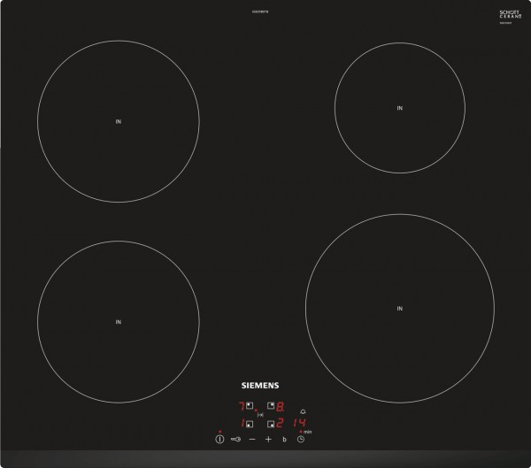 Siemens EU631BEF1B 60cm Induction Hob in Black Glass