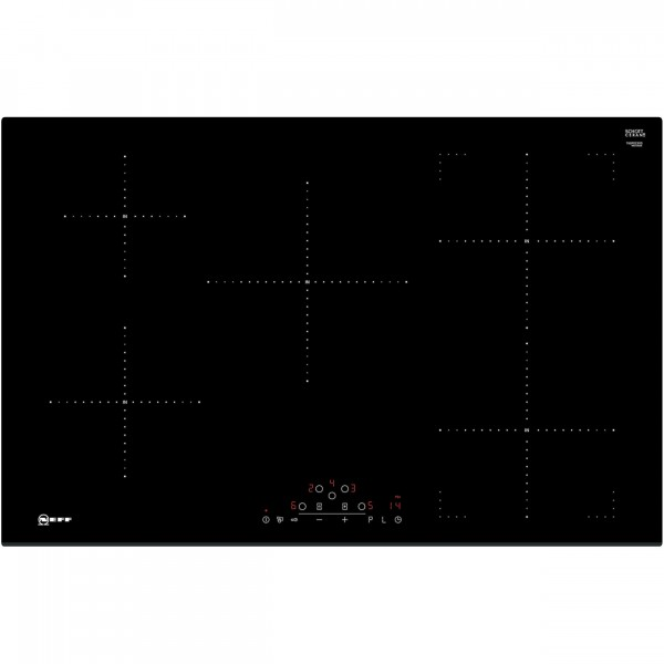 Neff T48FD23X0 80cm electric induction hob in black