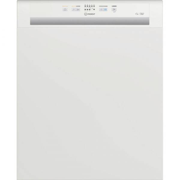 Indesit DBE2B19UK Semi-Integrated Dishwasher in white