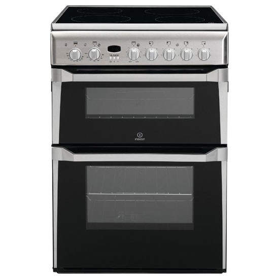 Indesit ID60C2XS 60cm Stainless Steel Double oven Cooker