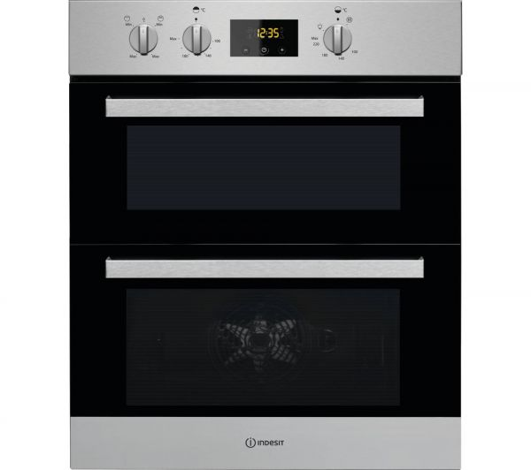 INDESIT IDU6340IX BUILT UNDER DOUBLE OVEN STAINLESS STEEL