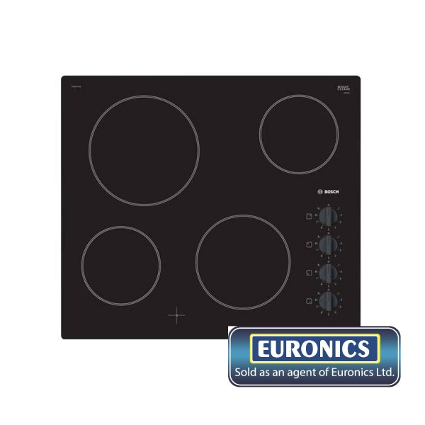 BOSCH PKE611CA1E 60CM CERAMIC HOB WITH KNOBS