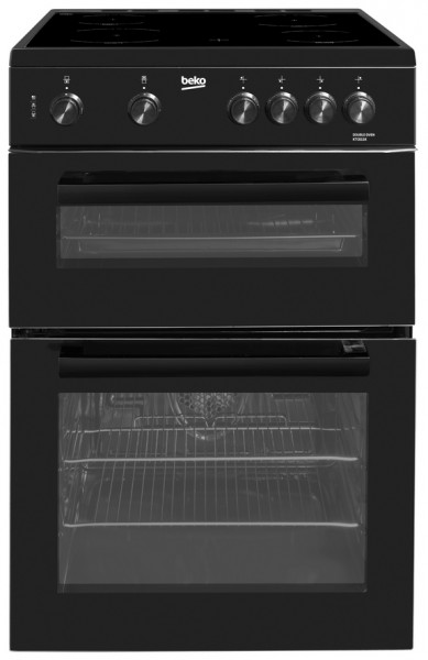 Beko KTC611K Cooker Twin Cavity Ceramic 60cm