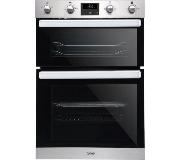 BELLING BI902FP-SS BUILT UP DOUBLE OVEN STAINLESS STEEL