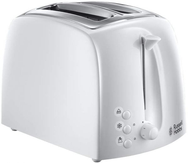 RUSSELL HOBS 21640 2 SLICE TOASTER WHITE