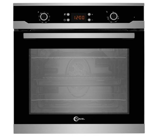 FLAVEL FLS65FX 60CM SINGLE OVEN 66 LITRE MULTI FUNCTION STEEL