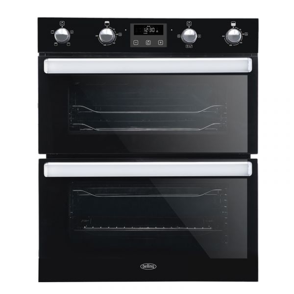 BELLING BI702FPBLK BELLING DOUBLE UNDER OVEN BLACK