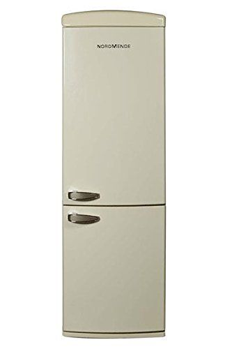 NORDMENDE RETNF368A RETRO FRIDGE FREEZER CREAM