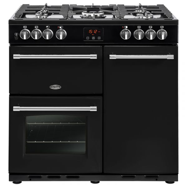 BELLING FARMHOUSE 90DFT-K 90CM DUAL FUEL RANGE BLACK