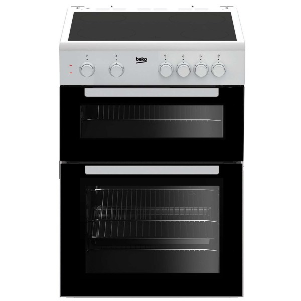 Beko KTC611W Cooker Twin Cavity Ceramic 60cm