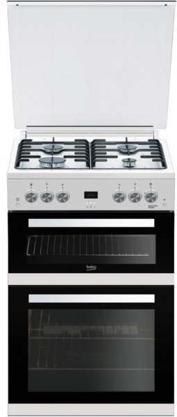 Beko EDG6L33W Cooker Double Oven Gas 60cm
