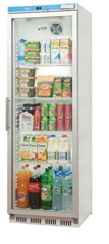 Uniforst GDF400 Tall Glass Fronted Display Freezer