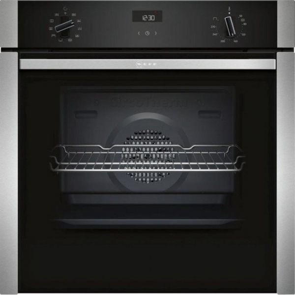 NEFF- B3ACE4HN0B SINGLE HIDE & SLIDE OVEN STAINLESS STEEL