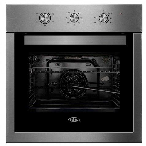 BELLING BI605F-SS SINGLE FAN OVEN STAINLESS STEEL