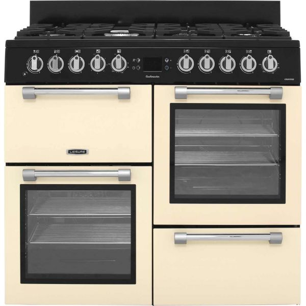 LEISURE CK100F232 CREAM 100CM DUAL FUEL RANGE