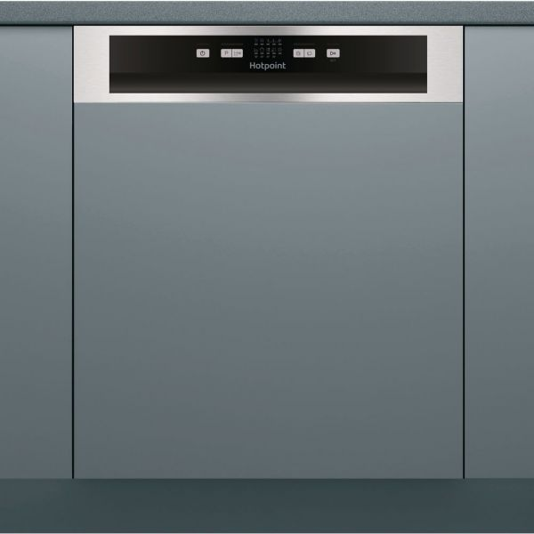 HOTPOINT HBC219X SEMI INTEGRATED DISHWASHER BLACK A+